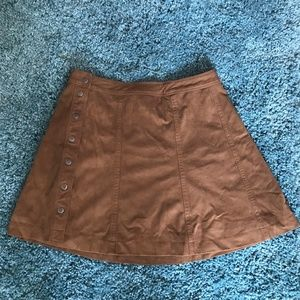 Brown Leather Skirt from A&F!